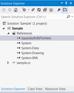 How to add a reference to SautinSoft.RtfToHtml.dll