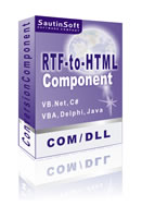DLL/COM for convert rtf and text in to HTML, XHTML