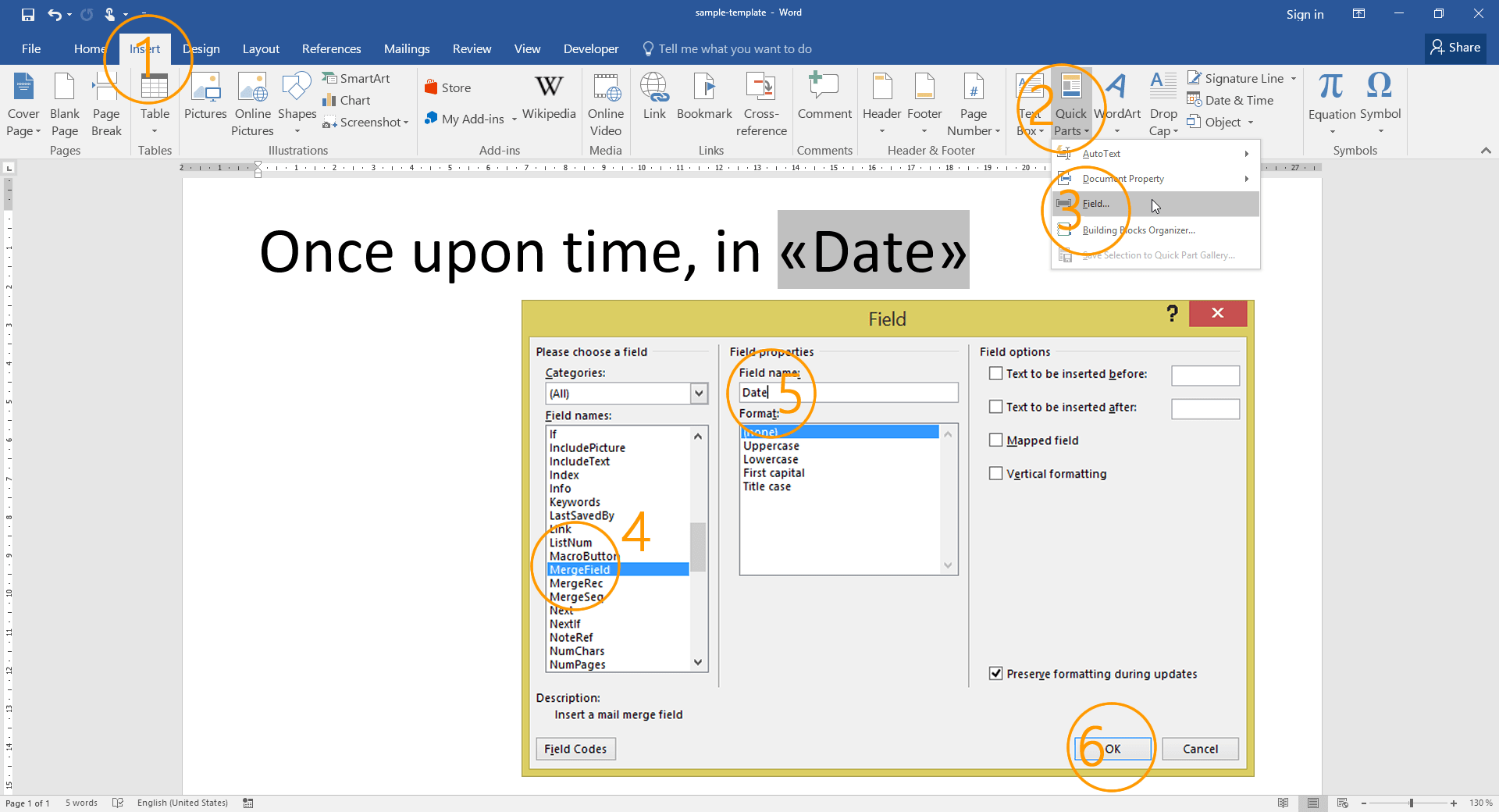 How To Create A Mail Merge Template Using MS Word - How to create a template in word with fields