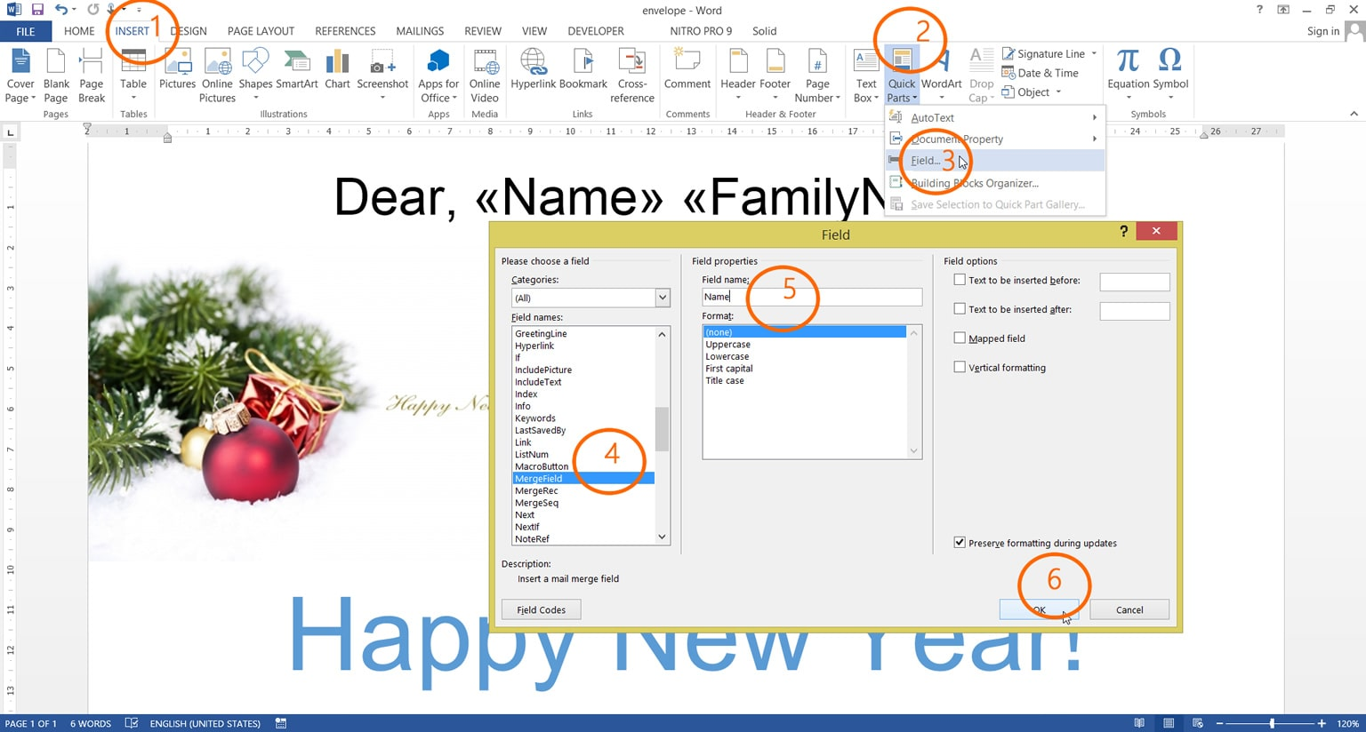 Reporting And Mail Merge Generate Simple Report Using C And Net - How to create a template in word with fields